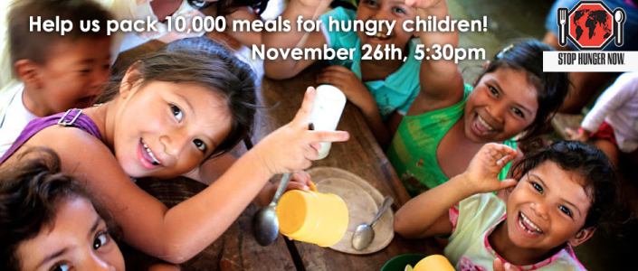 Help us pack 10,000 meals with Stop Hunger Now!