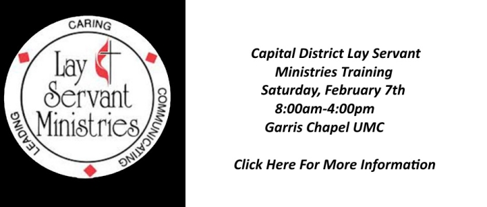 Garris Chapel to Host Capital District Lay Servant Ministries Training